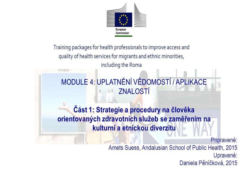 Přístupy zaměřené na člověka ve zdravotní péči o migranty a etnické menšiny.