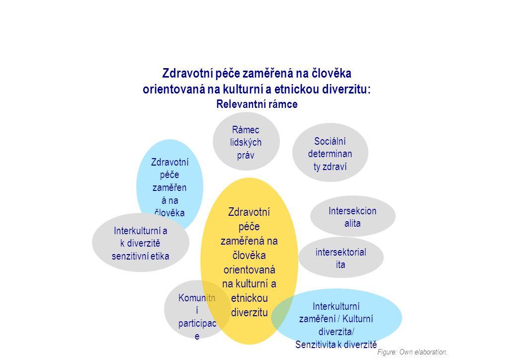 Zdravotní péče zaměřená na člověka orientovaná na kulturní a etnickou diverzitu: Relevantní rámce Figure: Own elaboration.