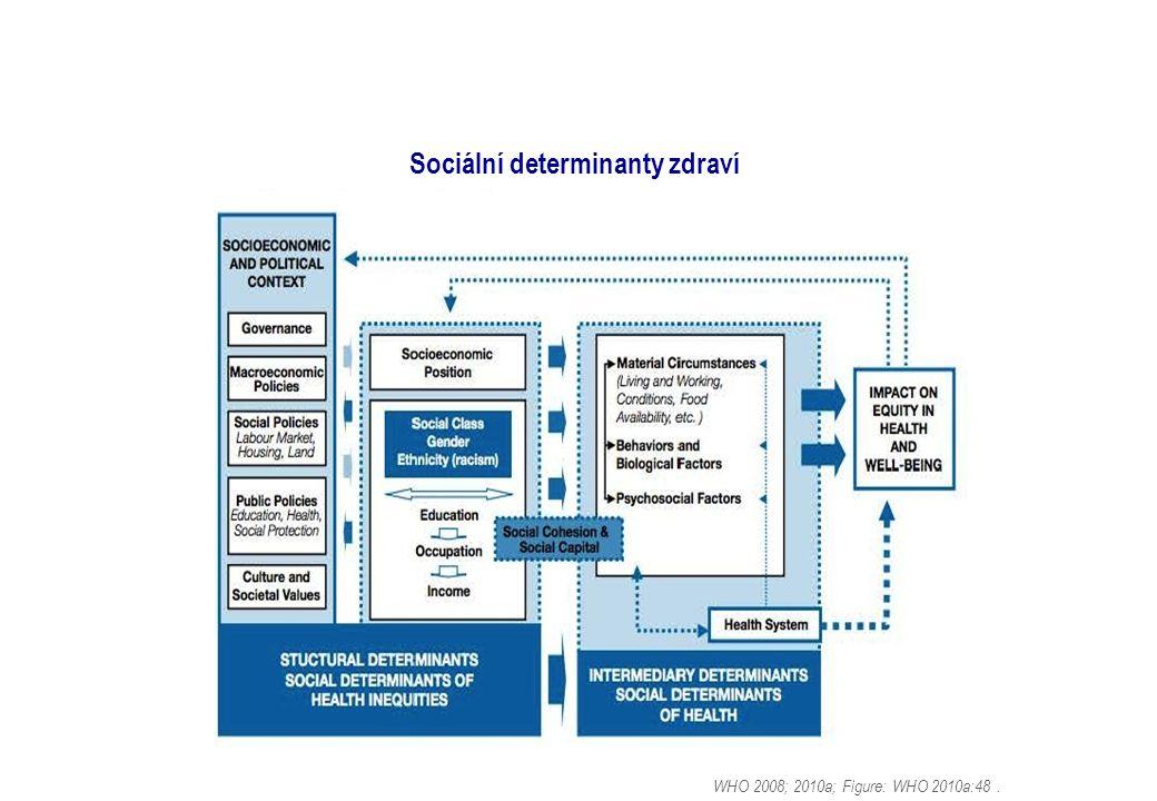 Sociální determinanty zdraví WHO 2008; 2010a; Figure: WHO 2010a:48.