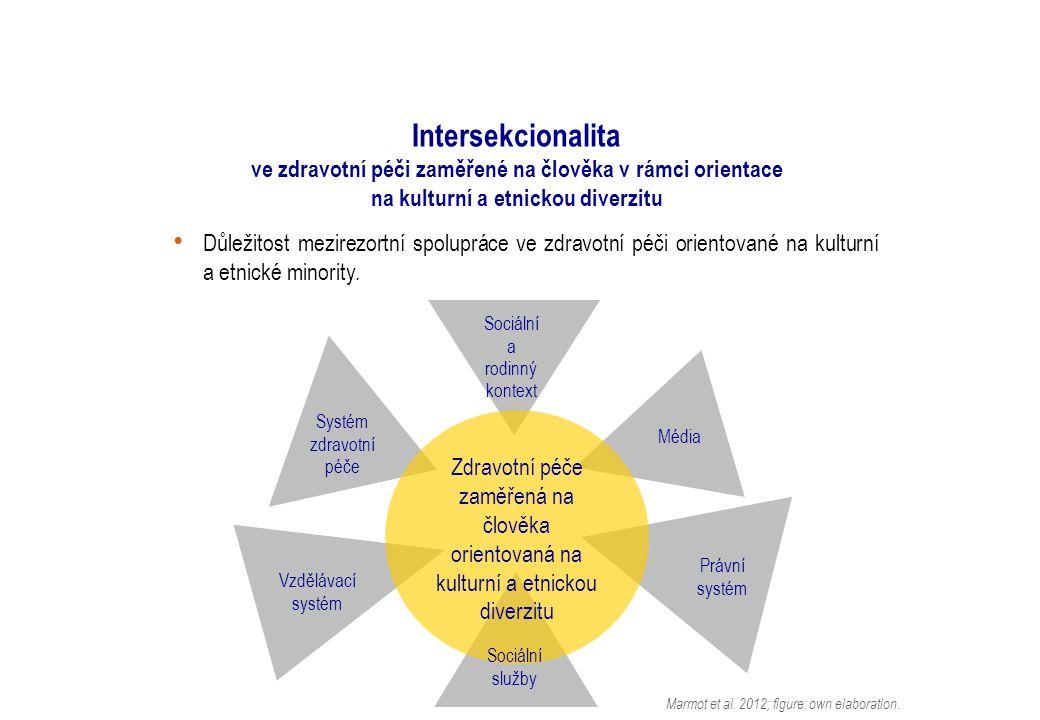 Intersekcionalita ve zdravotní péči zaměřené na člověka v rámci orientace na kulturní a etnickou diverzitu Důležitost mezirezortní spolupráce ve zdravotní péči orientované na kulturní a etnické minority.