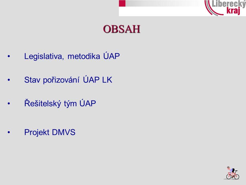 nejsou známy žádné znatelné změny v legislativě UAP MMR připravuje metodické pomůcky z oblasti ÚAP → pro potřeby indikátorů URÚ – nutné sbírat plochy bydlení → nutno rozčlenit – datový model a) BD, RD, b) záměry, návrh, stav c) smíšené plochy METODIKA ÚAP