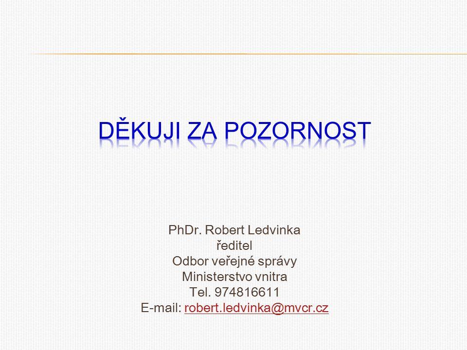 PhDr. Robert Ledvinka ředitel Odbor veřejné správy Ministerstvo vnitra Tel.