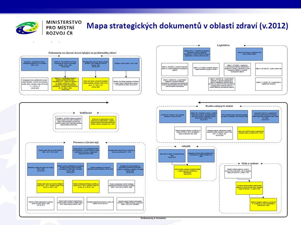 Mapa strategických dokumentů v oblasti zdraví (v.2012)