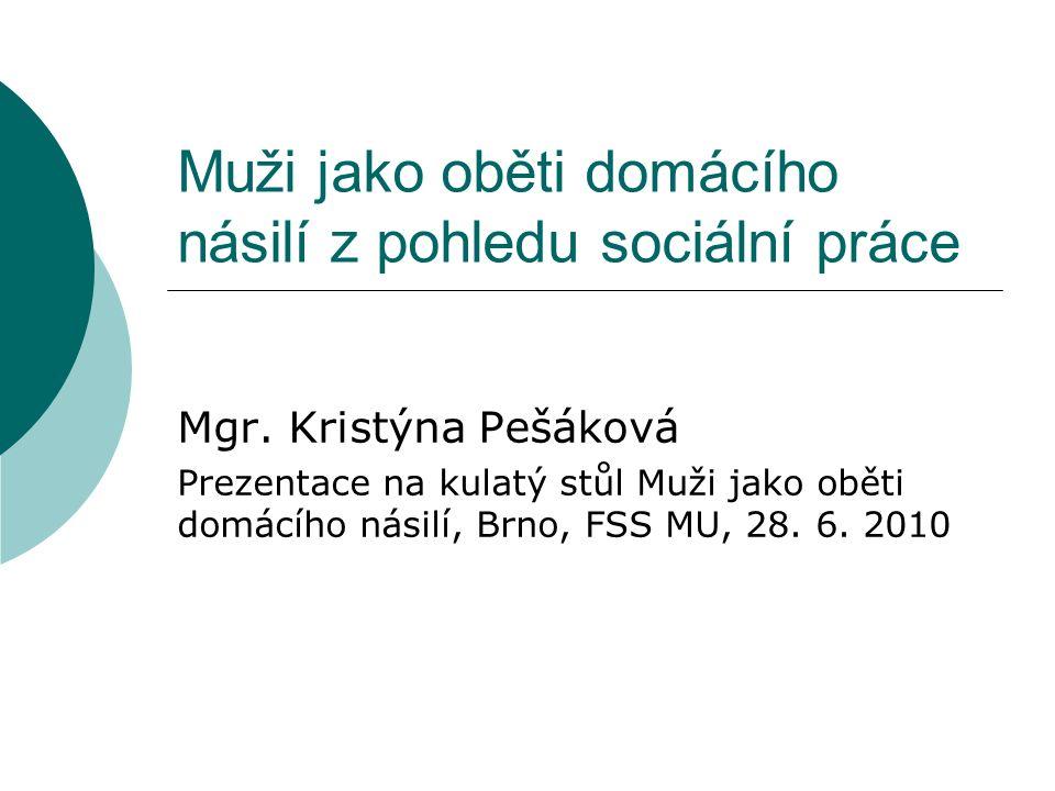 Muži jako oběti domácího násilí z pohledu sociální práce Mgr.