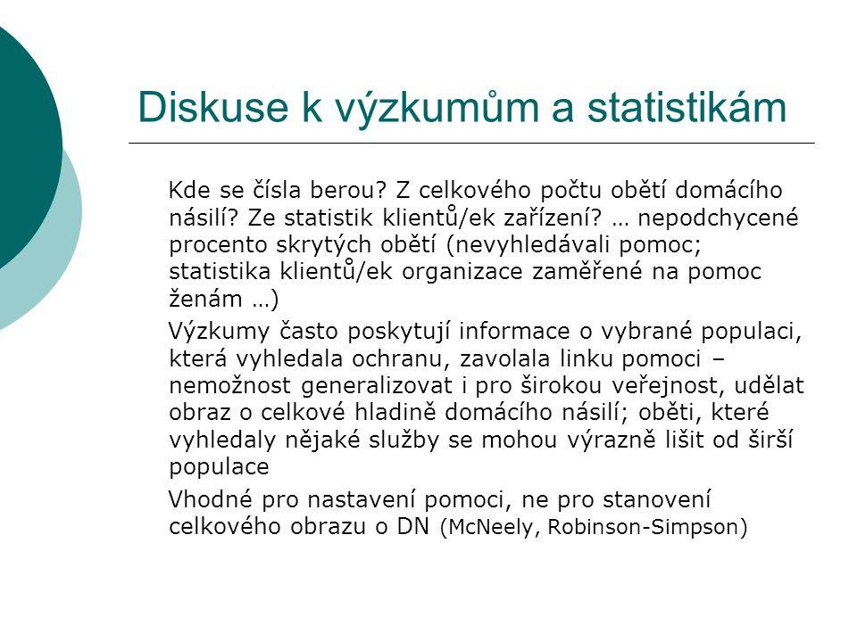 Diskuse k výzkumům a statistikám Kde se čísla berou.