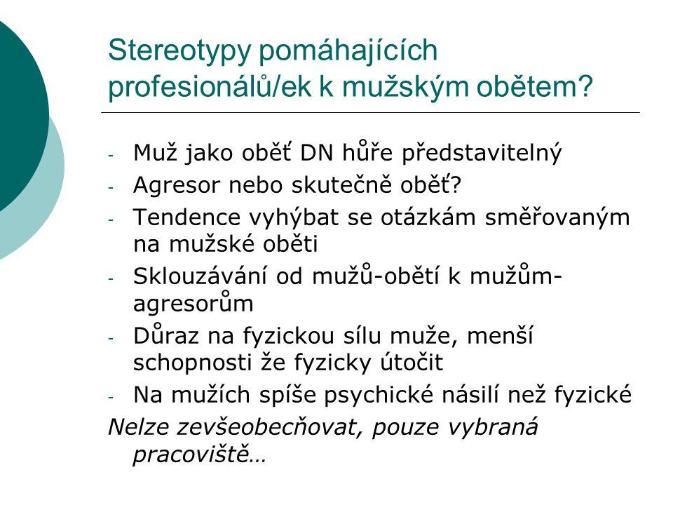 Stereotypy pomáhajících profesionálů/ek k mužským obětem.