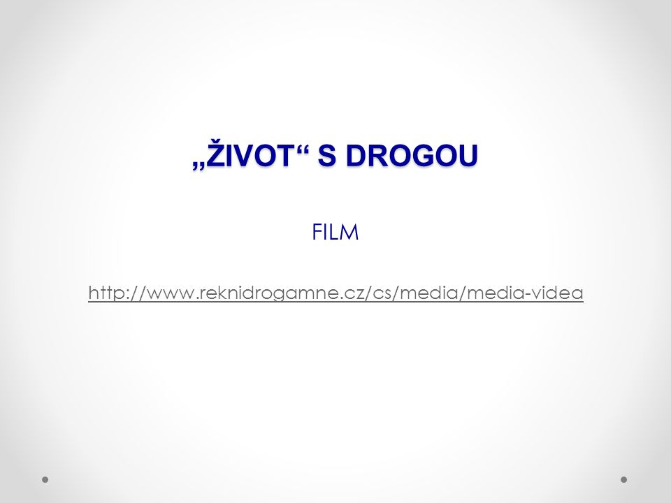 """ŽIVOT S DROGOU FILM http://www.reknidrogamne.cz/cs/media/media-videa"