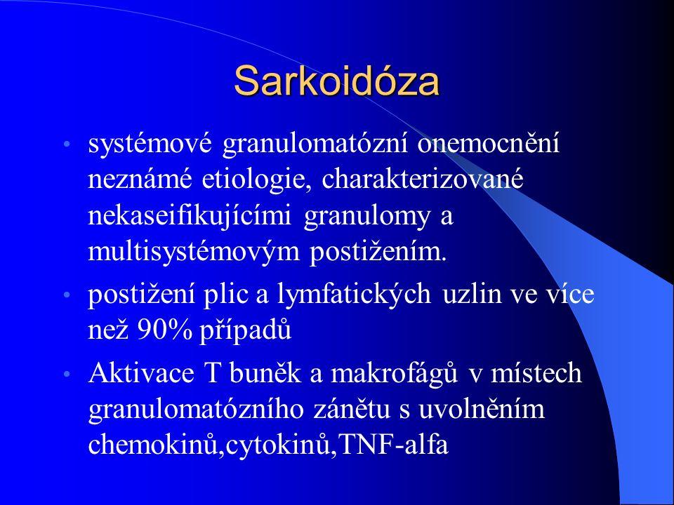 Sarkoidóza systémové granulomatózní onemocnění neznámé etiologie, charakterizované nekaseifikujícími granulomy a multisystémovým postižením.