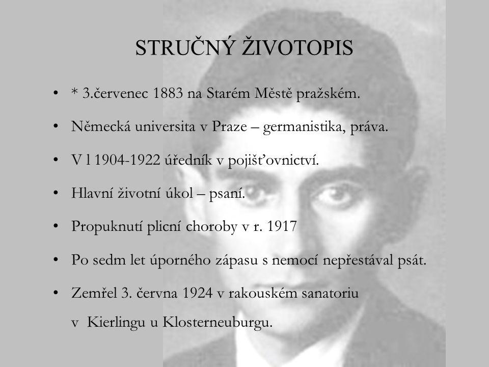 STRUČNÝ ŽIVOTOPIS * 3.červenec 1883 na Starém Městě pražském.