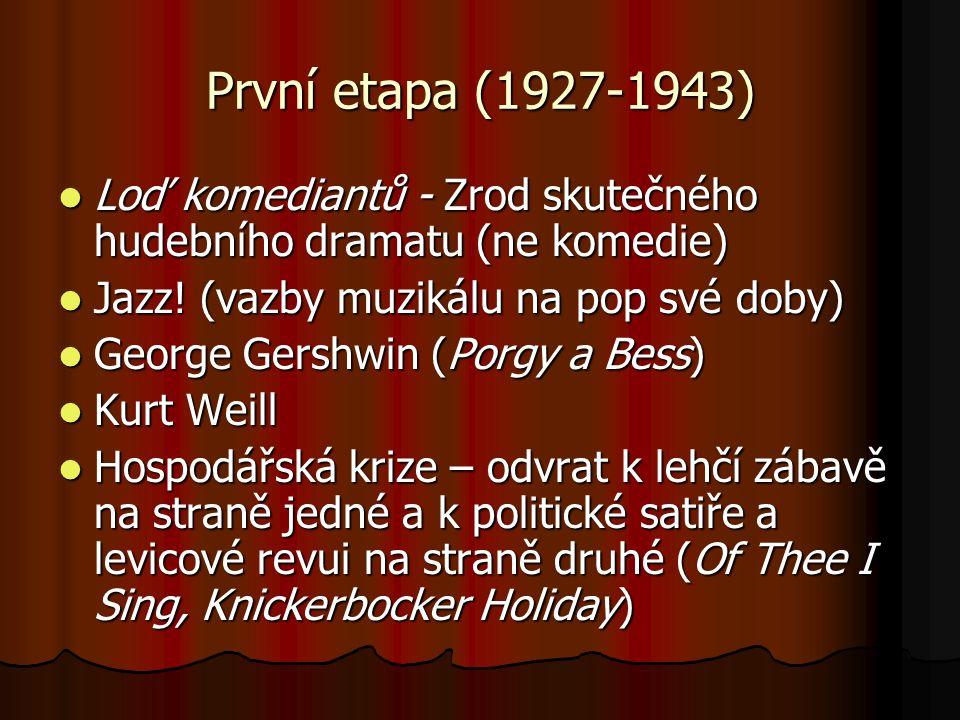 První etapa (1927-1943) Loď komediantů - Zrod skutečného hudebního dramatu (ne komedie) Loď komediantů - Zrod skutečného hudebního dramatu (ne komedie) Jazz.