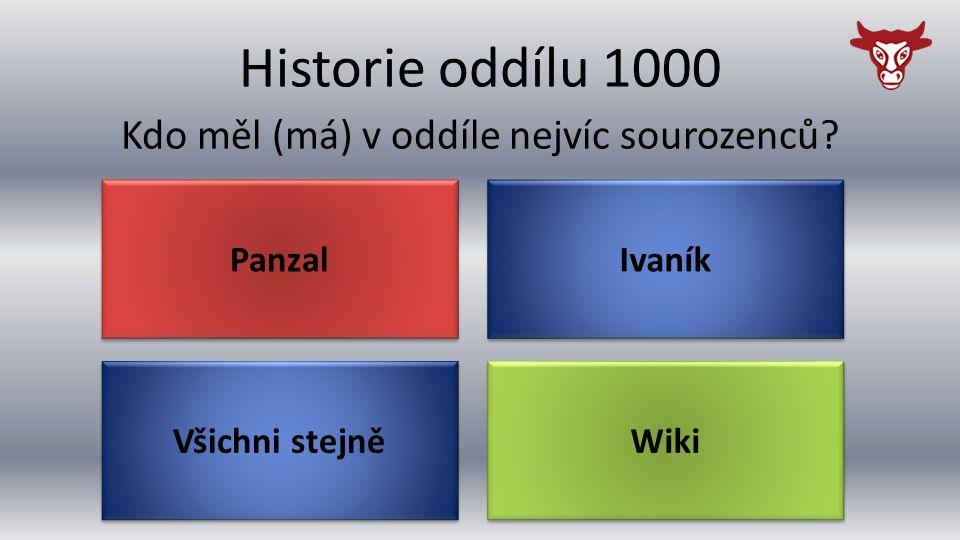 Historie oddílu 1000 Všichni stejně Kdo měl (má) v oddíle nejvíc sourozenců? Wiki Ivaník Panzal