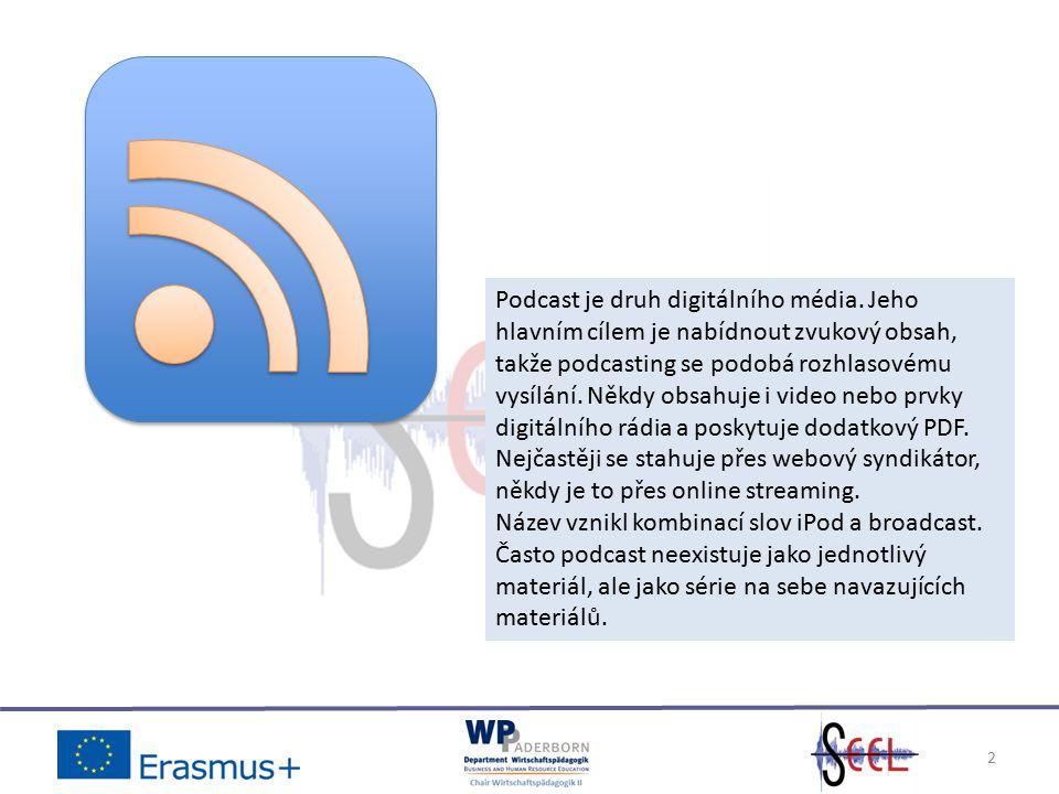 2 Podcast je druh digitálního média.