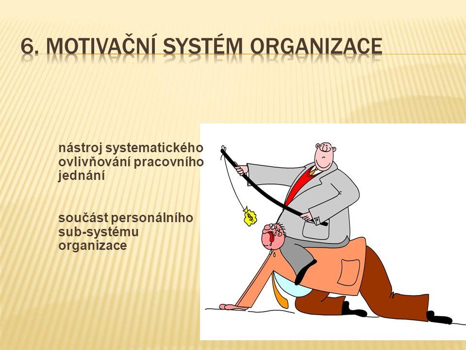 nástroj systematického ovlivňování pracovního jednání součást personálního sub-systému organizace