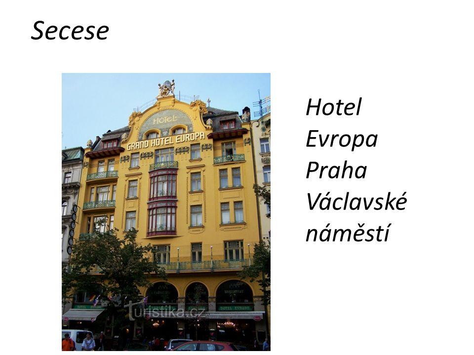 Secese Hotel Evropa Praha Václavské náměstí