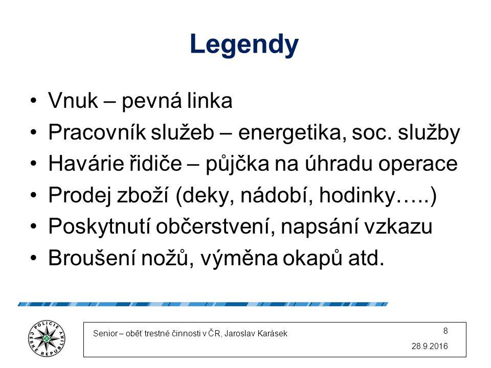 Legendy Vnuk – pevná linka Pracovník služeb – energetika, soc.