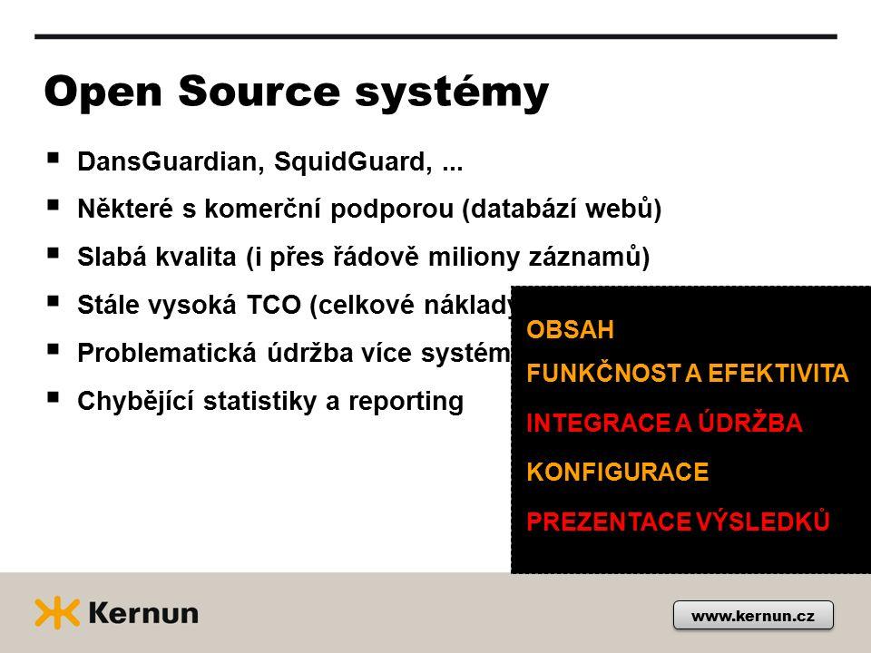 www.kernun.cz Open Source systémy  DansGuardian, SquidGuard,...