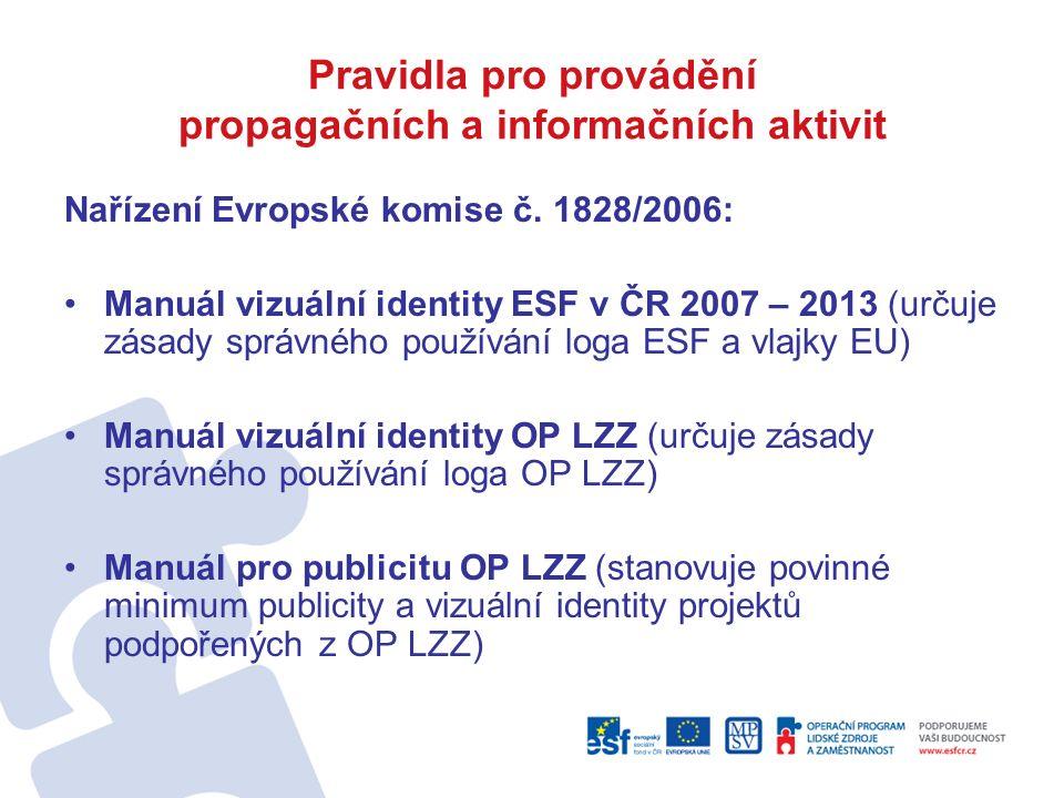 Pravidla pro provádění propagačních a informačních aktivit Nařízení Evropské komise č.