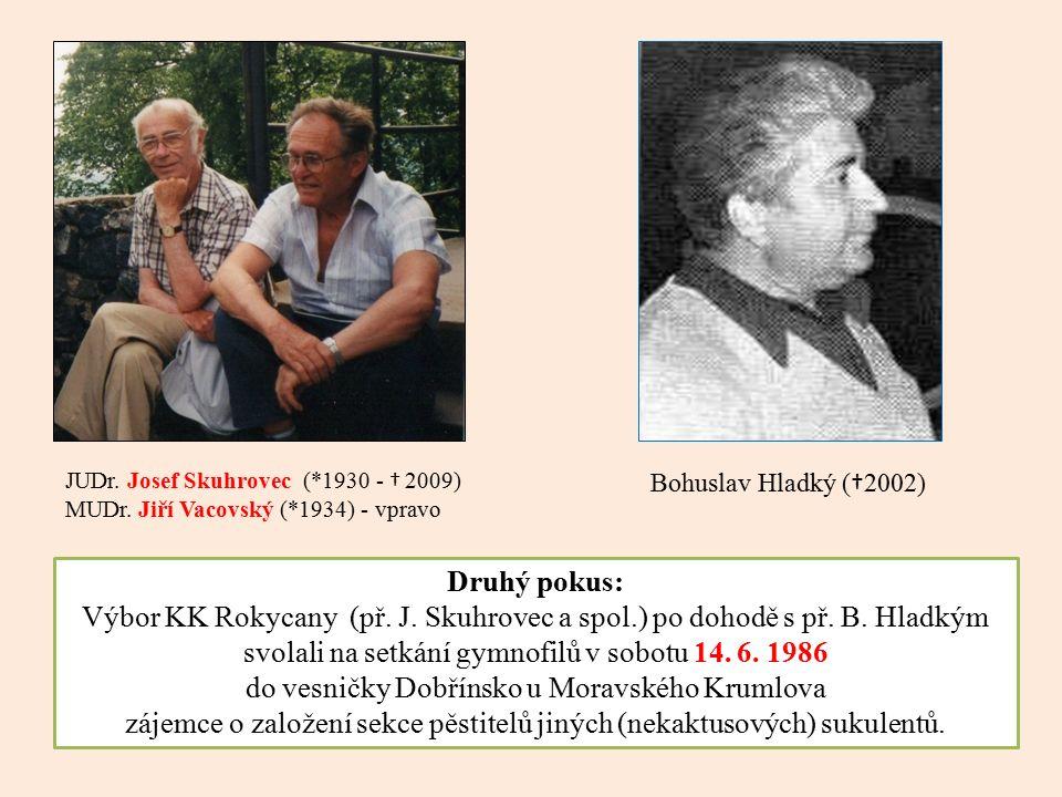 Druhý pokus: Výbor KK Rokycany (př. J. Skuhrovec a spol.) po dohodě s př.