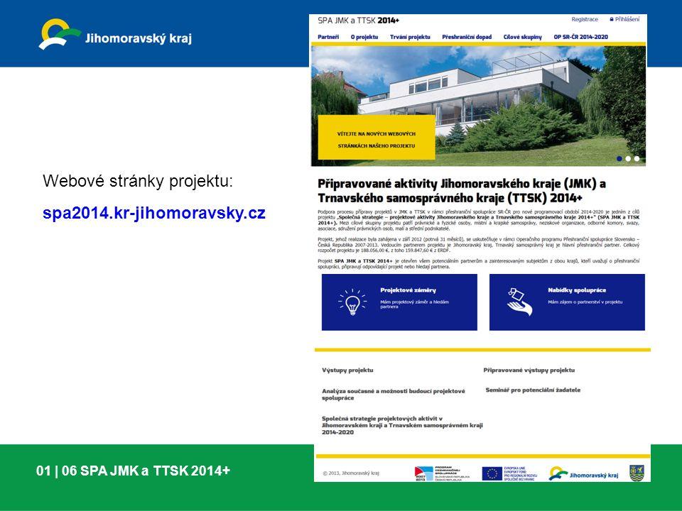 01 | 06 SPA JMK a TTSK 2014+ Webové stránky projektu: spa2014.kr-jihomoravsky.cz