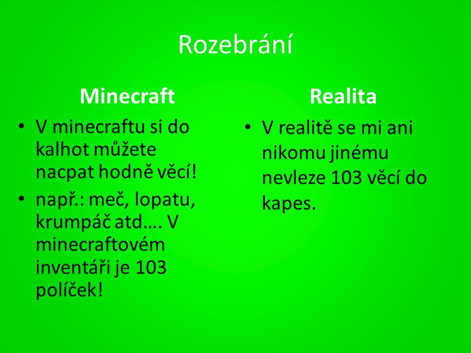 Rozebrání Minecraft V minecraftu si do kalhot můžete nacpat hodně věcí.