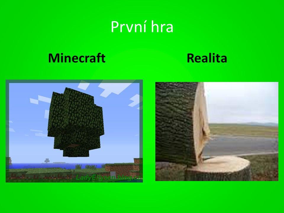 První hra MinecraftRealita