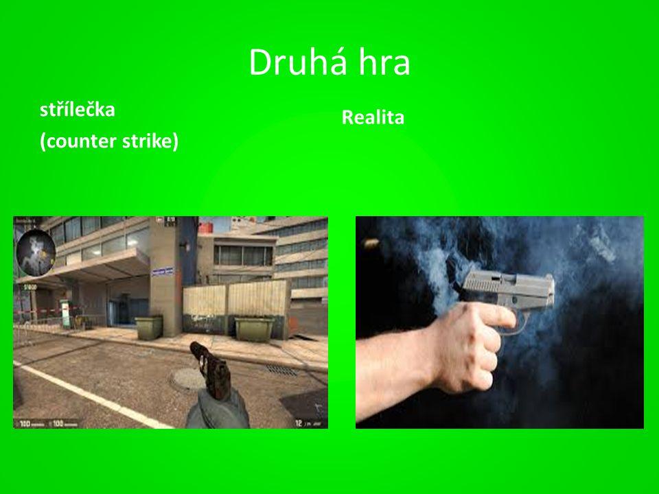 Druhá hra střílečka (counter strike) Realita