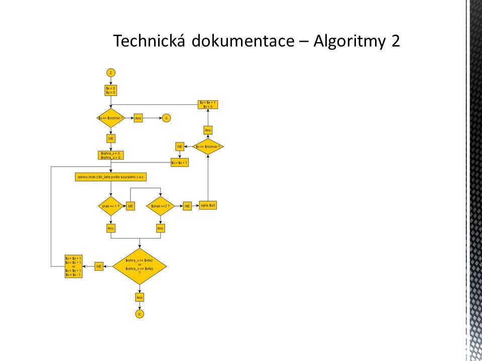Technická dokumentace - tabulky