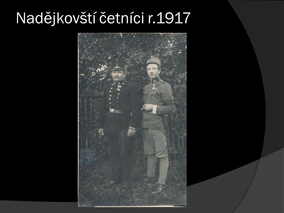 Nadějkovští četníci r.1917