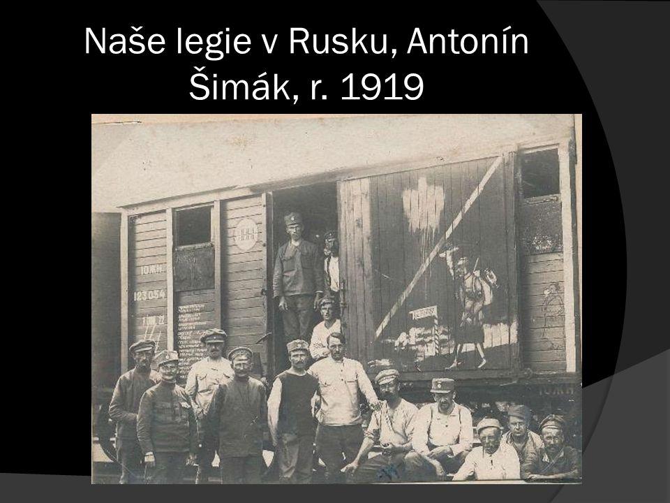 Naše legie v Rusku, Antonín Šimák, r. 1919