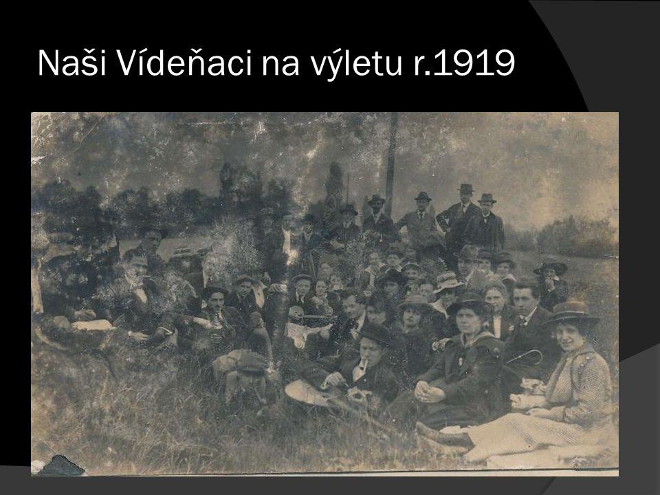 Naši Vídeňaci na výletu r.1919