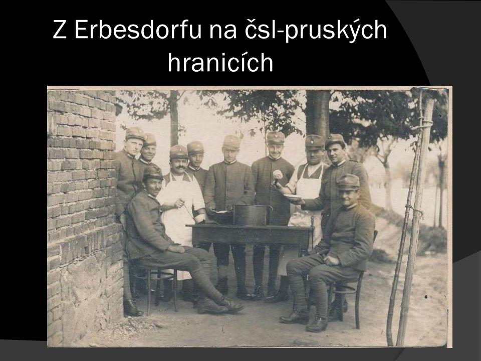 Z Erbesdorfu na čsl-pruských hranicích