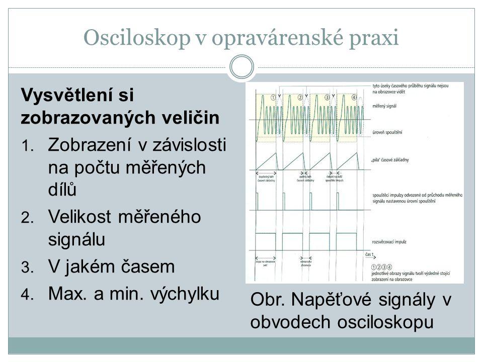 Osciloskop v opravárenské praxi Použitá literatura: o Š.