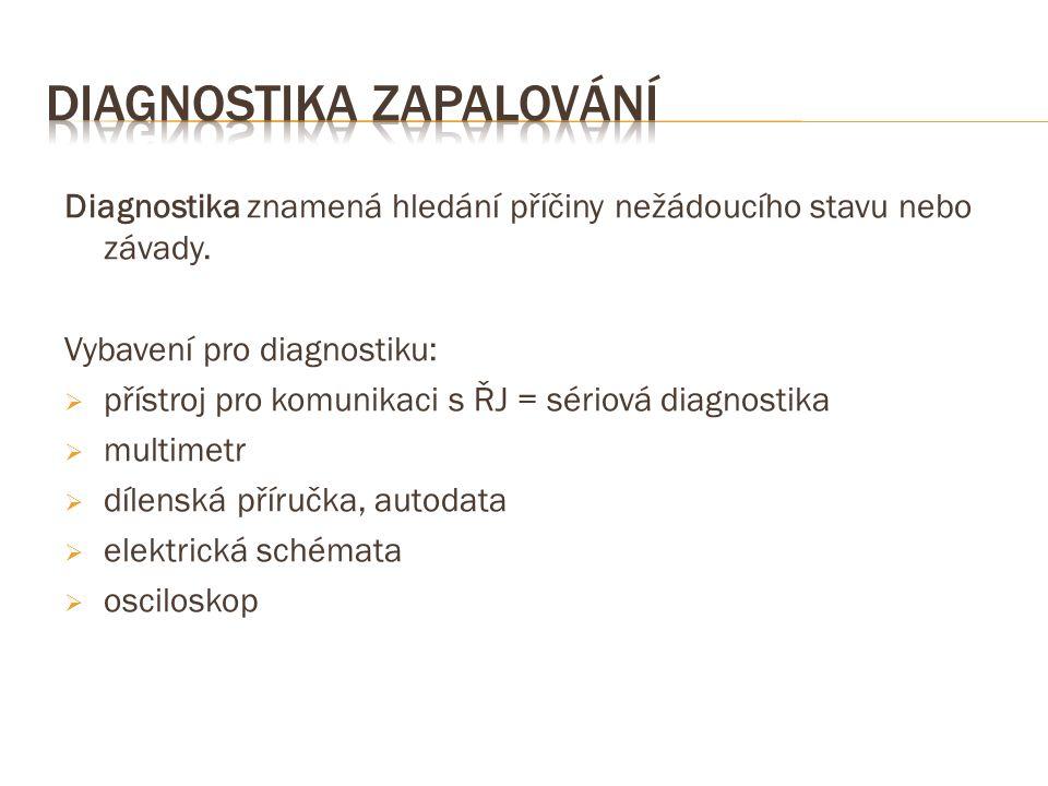 Diagnostika znamená hledání příčiny nežádoucího stavu nebo závady.
