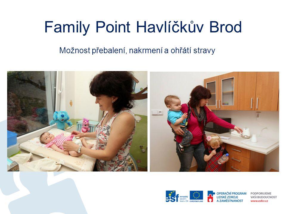 Family Point Havlíčkův Brod Možnost přebalení, nakrmení a ohřátí stravy
