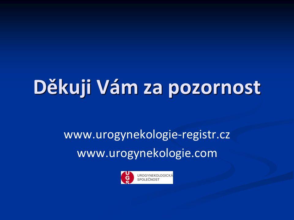 Děkuji Vám za pozornost www.urogynekologie-registr.cz www.urogynekologie.com