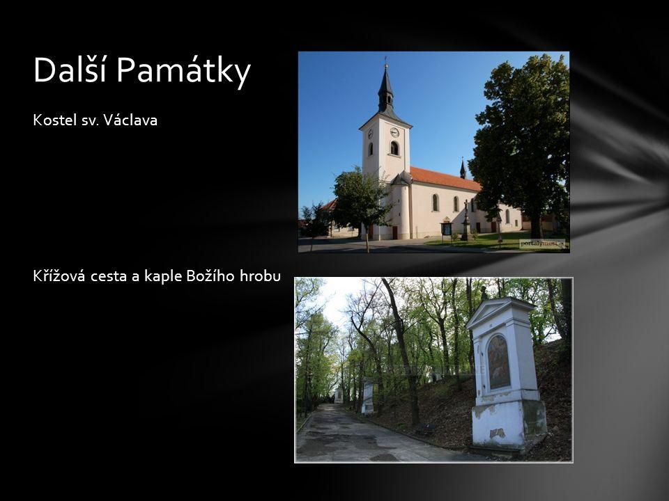 Kostel sv. Václava Křížová cesta a kaple Božího hrobu Další Památky