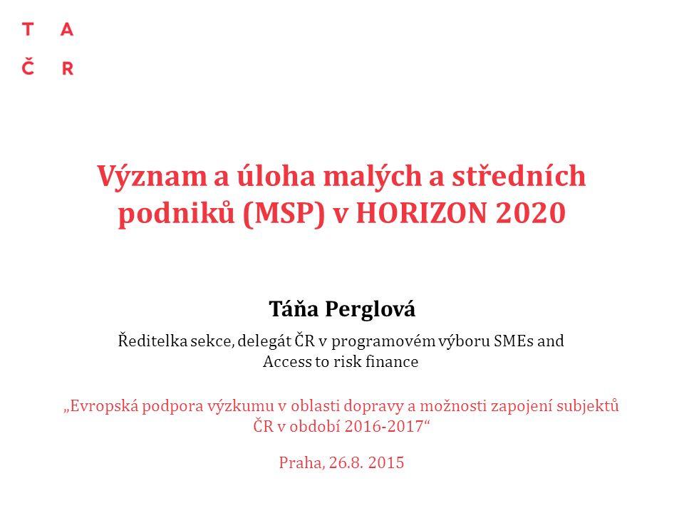 Obsah prezentace MPS v Horizontu 2020 SME Instrument = speciální nástroj pro MPS – Charakteristika – Dosavadní výsledky – Výzvy