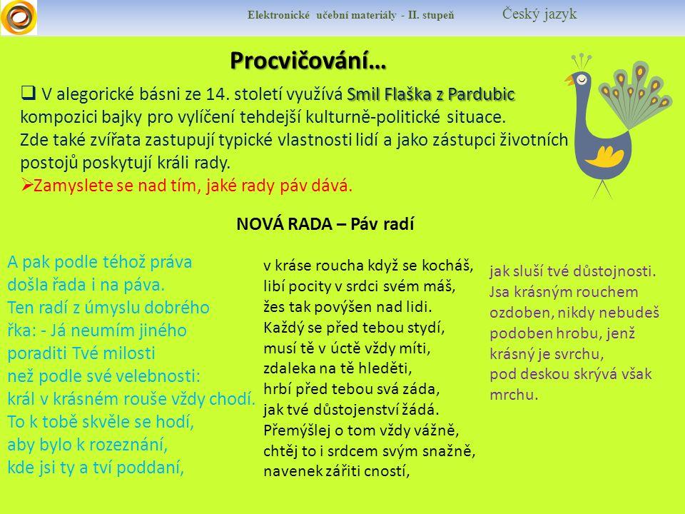 Procvičování… Procvičování… Elektronické učební materiály - II.
