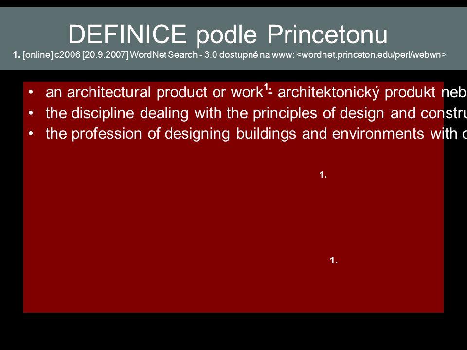 DEFINICE podle Princetonu 1.