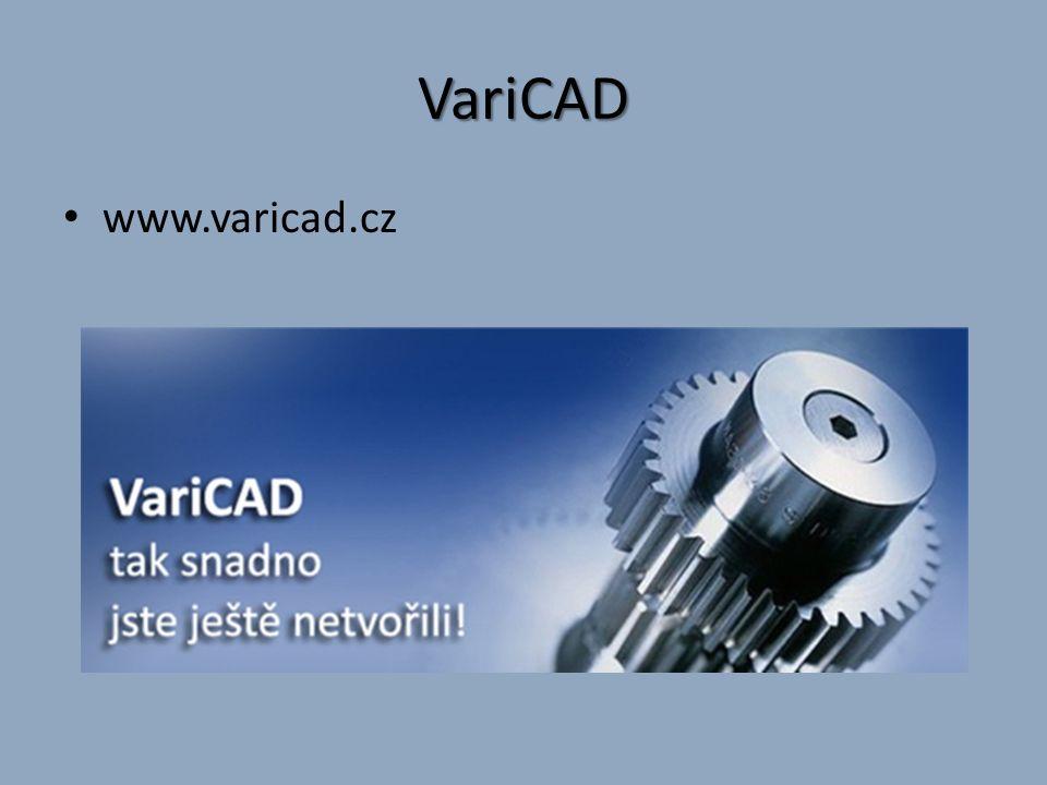 Co VariCAD umí Systém VariCAD je vyvíjen pro strojírenství a svými funkcemi pokrývá základní požadavky konstruktérů.