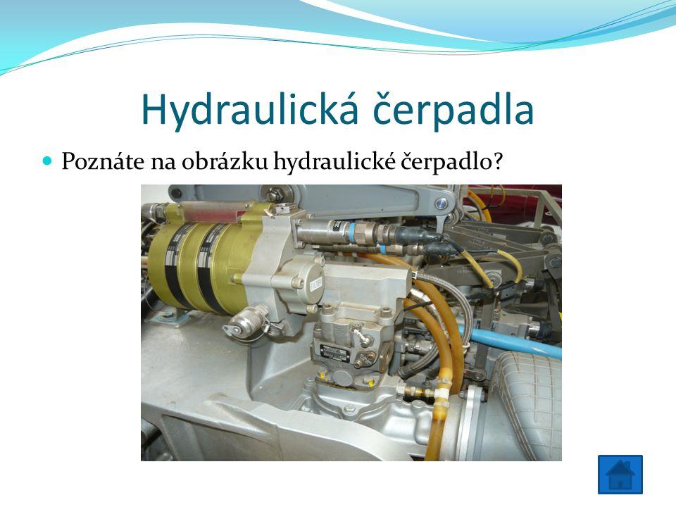 Hydraulická čerpadla Poznáte na obrázku hydraulické čerpadlo