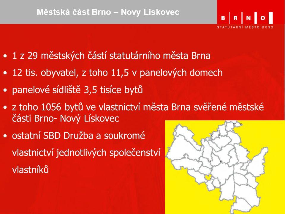 Městská část Brno – Novy Liskovec 1 z 29 městských částí statutárního města Brna 12 tis.