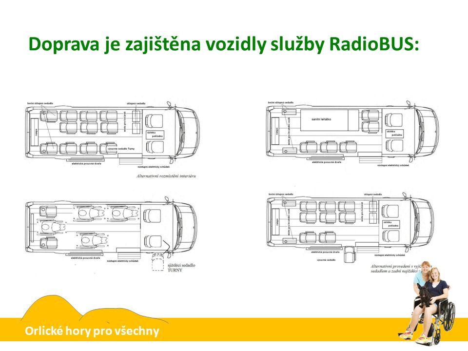 Doprava je zajištěna vozidly služby RadioBUS: Orlické hory pro všechny