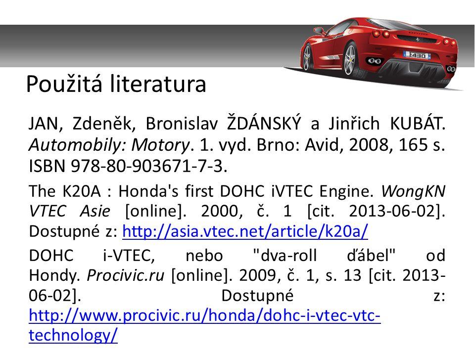 JAN, Zdeněk, Bronislav ŽDÁNSKÝ a Jinřich KUBÁT. Automobily: Motory.