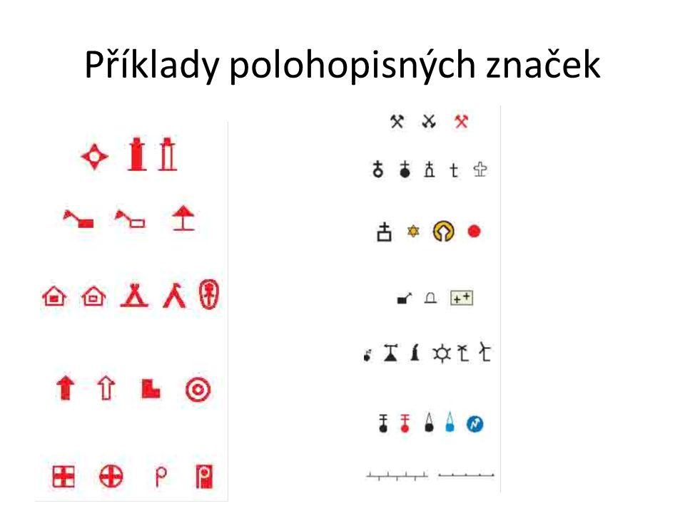 Příklady polohopisných značek