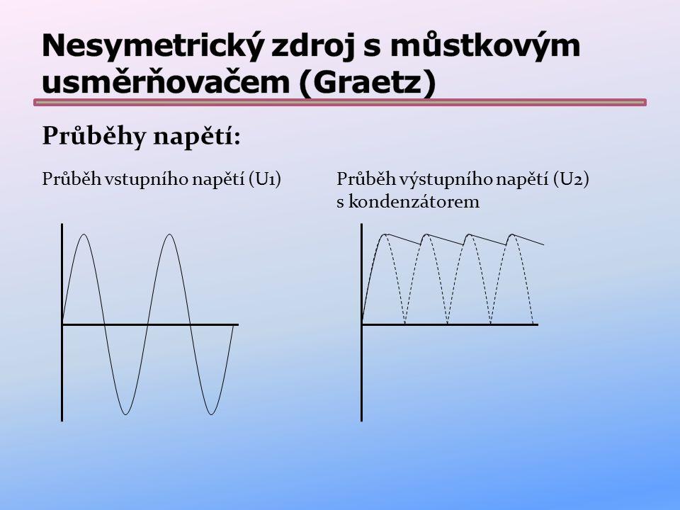 V tomto zapojení je použito: pojistka – chrání obvod odpojením napájení v případě poruchy nebo přetížení transformátor – transformuje vstupní napětí (např.