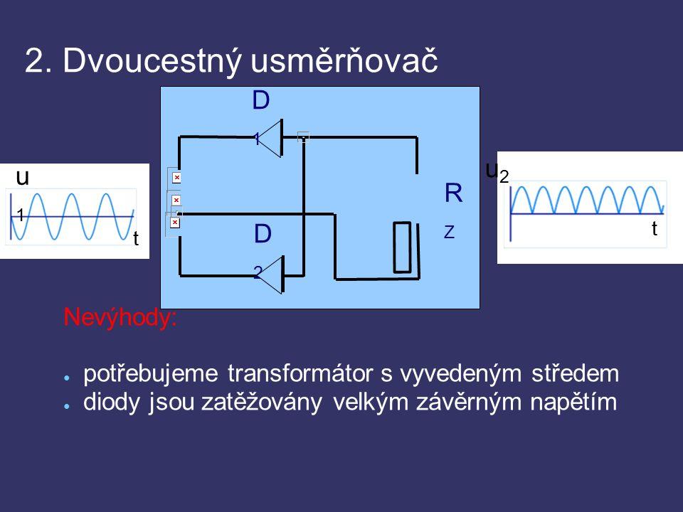 2. Dvoucestný usměrňovač - bez filtrace http://www.ises.info/old-site/experim/labuloh/lu11/Obr3.gif