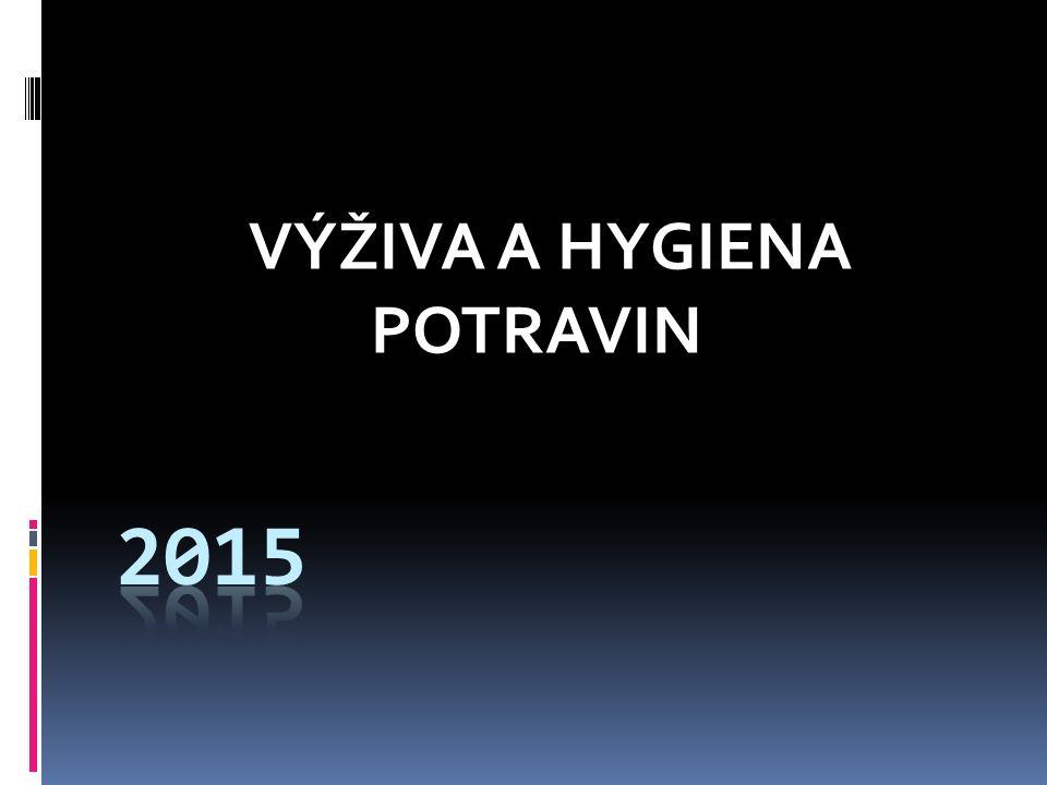 VÝŽIVA A HYGIENA POTRAVIN