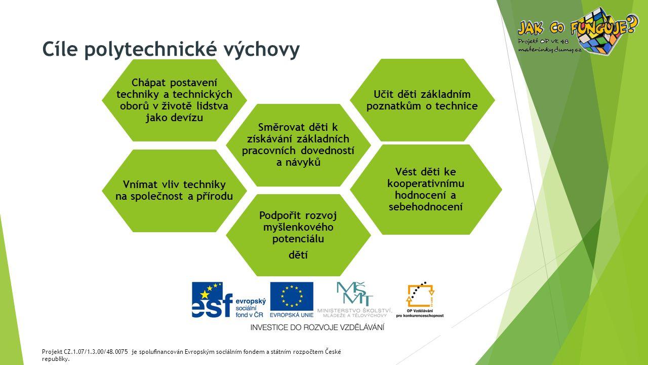 Projekt CZ.1.07/1.3.00/48.0075 je spolufinancován Evropským sociálním fondem a státním rozpočtem České republiky. Vnímat vliv techniky na společnost a
