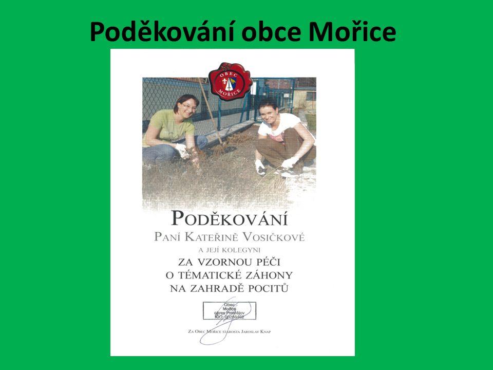 Poděkování obce Mořice